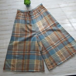 Vintage high waist wool blend culottes size S 26